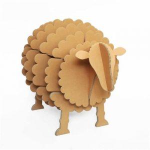 décoration pour une chambre d'enfant - Grande étagère mouton en carton kraft