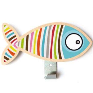 décoration pour une chambre d'enfant - Portemanteau poisson Série-golo