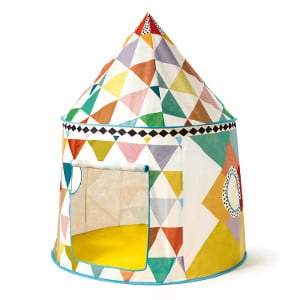 Cabane en toile pour enfant multicolore