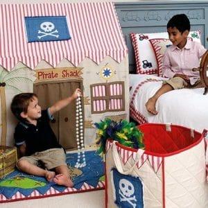 Grande cabane de pirates en tissu