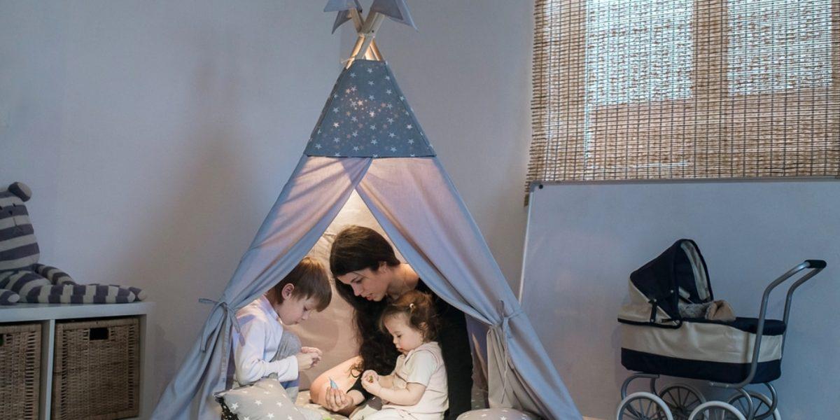 sélection de cabanes en toile pour enfant