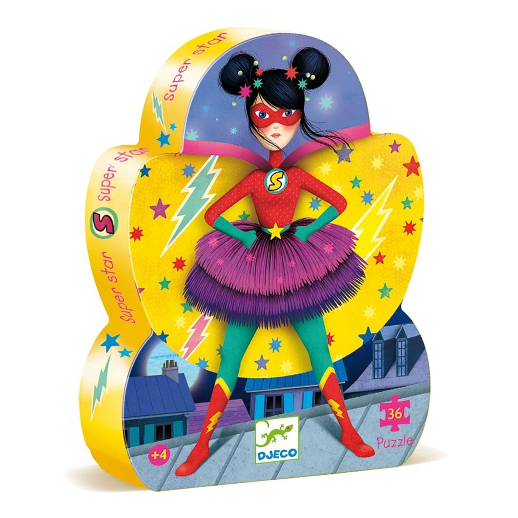 Puzzle super-héros fille Djeco