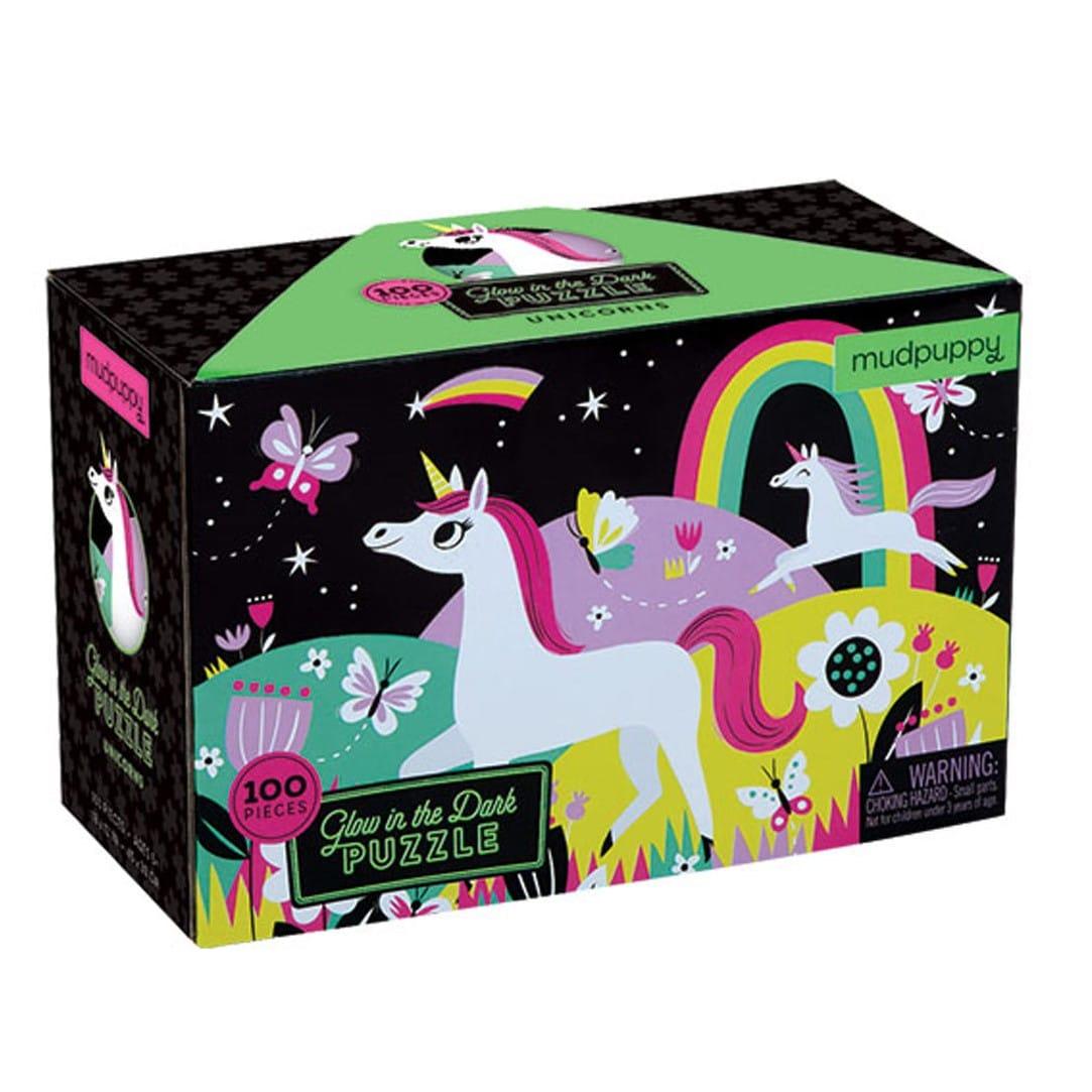 Puzzle phosphorescent Licornes 100 pièces Mudpuppy