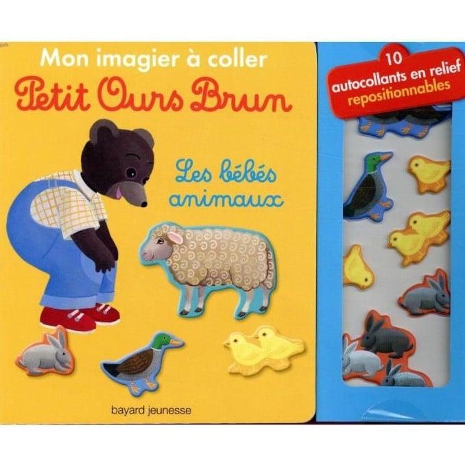 Mon imagier à coller Petit Ours Brun: les bébés animaux