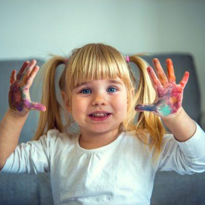 peinture au doigt pour bébé et enfant