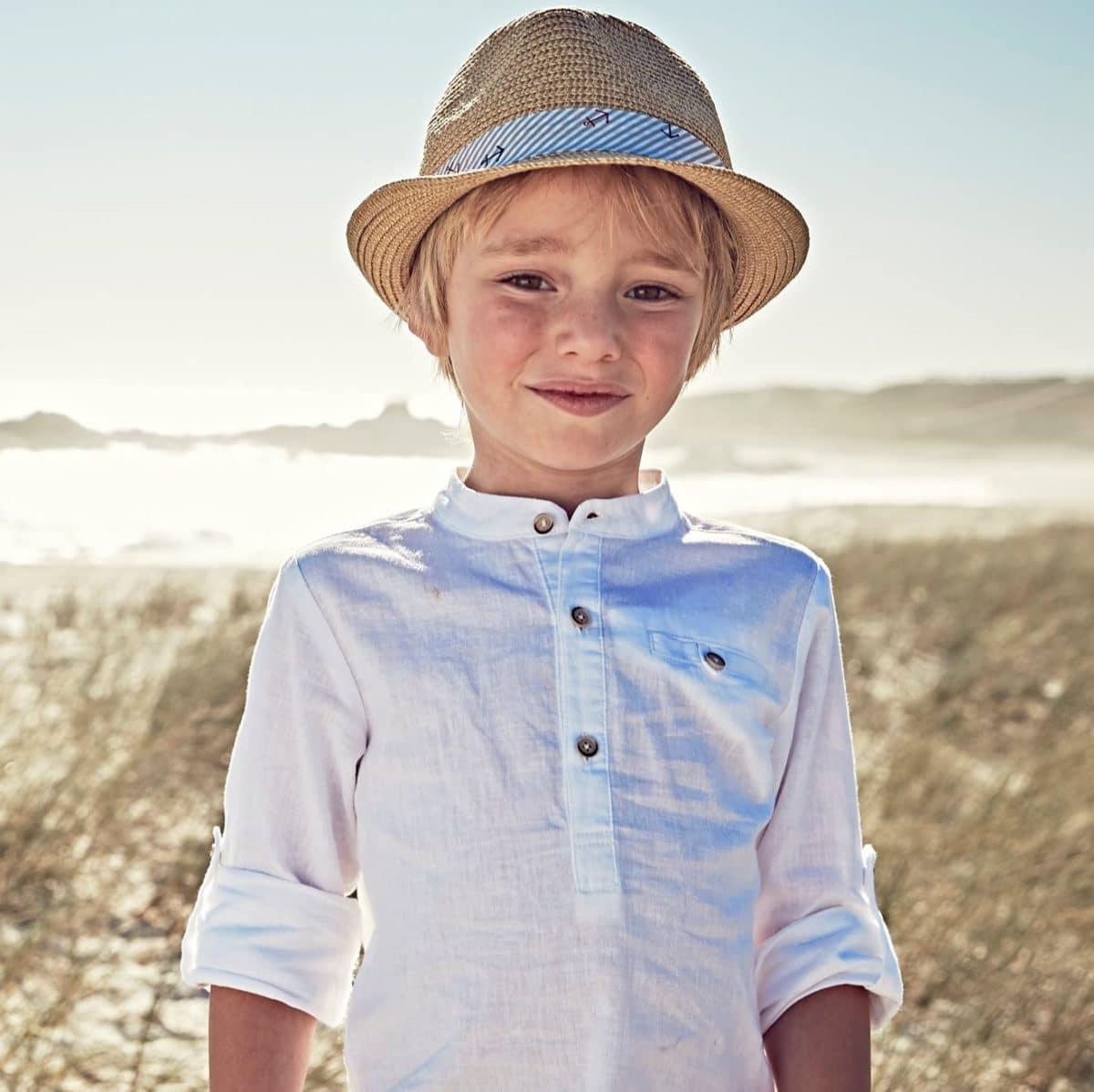 tenue-ceremonie-pour-enfant-chemise-lincoton-garcon-col-mao-manches-longues
