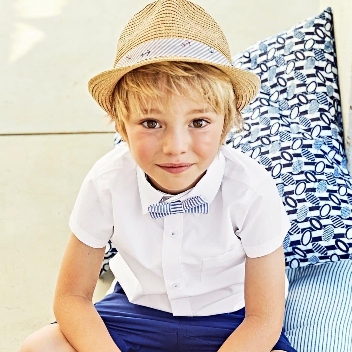 tenue-ceremonie-pour-enfant-chemise-unie-garcon-manches-courtes