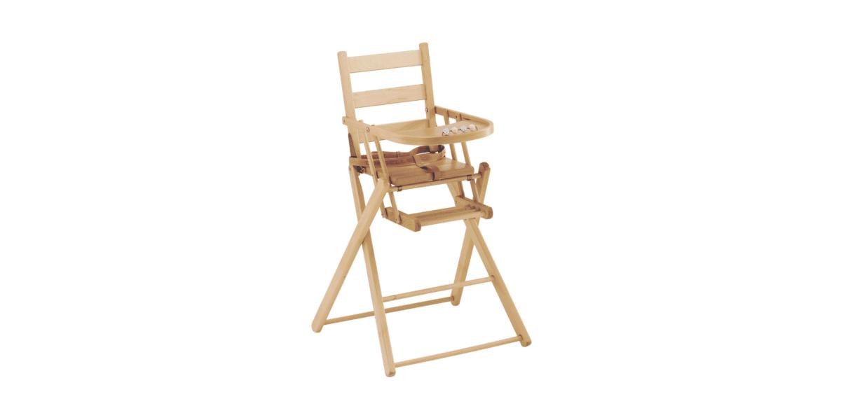 chaise haute b b pliante en bois combelle. Black Bedroom Furniture Sets. Home Design Ideas