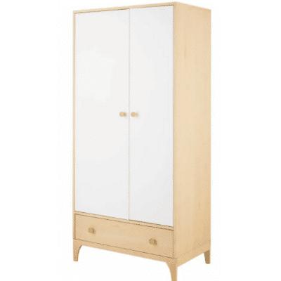 Armoire-enfant-Moonlight-2-portes-1-tiroir-blanc