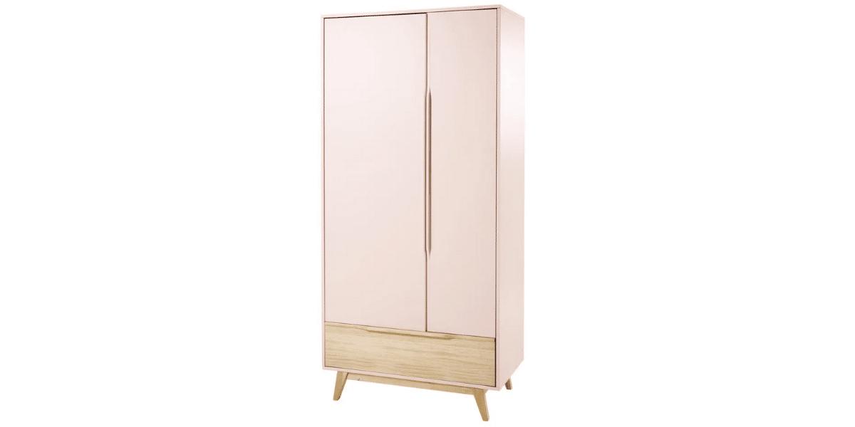 Dressing-enfant-vintage-Bucolique-2-portes-1-tiroir-rose-clair