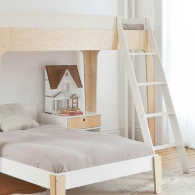 lit mezzanine en bois pour enfant marque Oeuf NYC