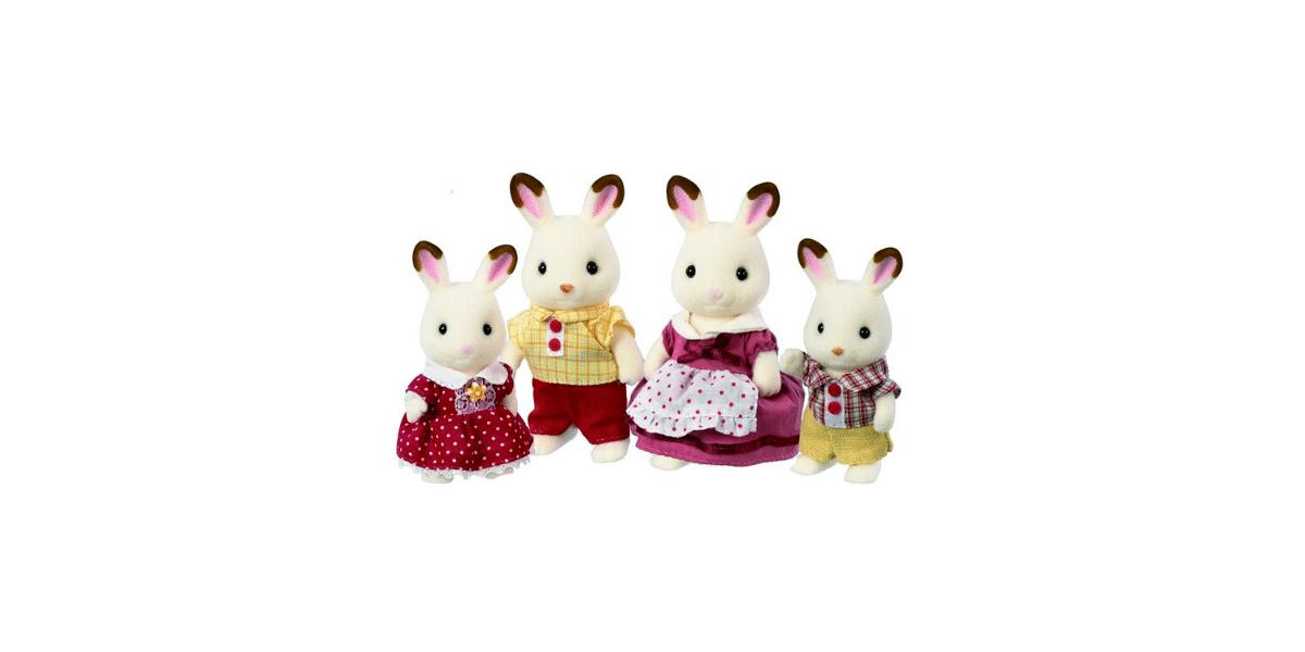 Famille-lapin-chocolat-Sylvanian-Families