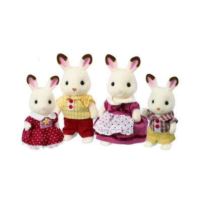 Familia-Conejo-Chocolate-Sylvanian-Familias