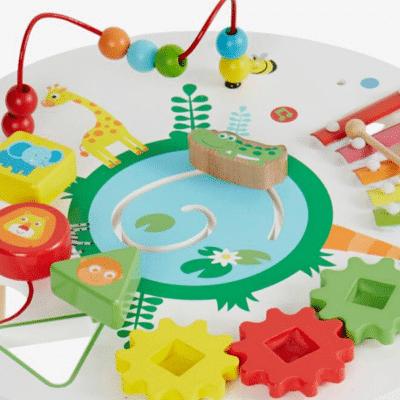 Table-dactivités-savane-multicolore-Vertbaudet