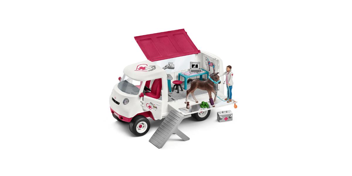 Vétérinaire-mobile-avec-poulains-Hanovrien-Schleich