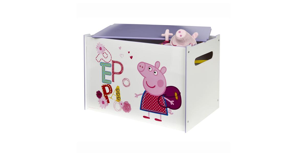 coffre à jouets en bois Peppa Pig marque Hello Home