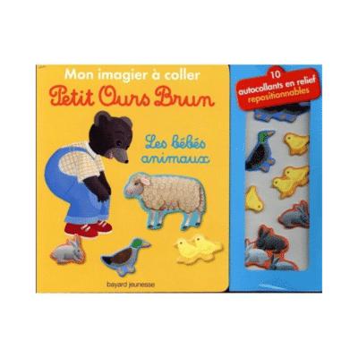 Mi libro ilustrado para pegar Petit Ours Brun