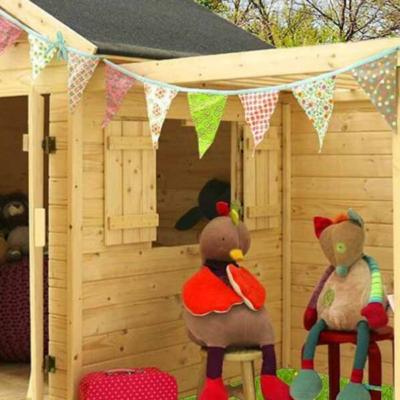 cabane en bois Alpaga avec pergola pour enfant