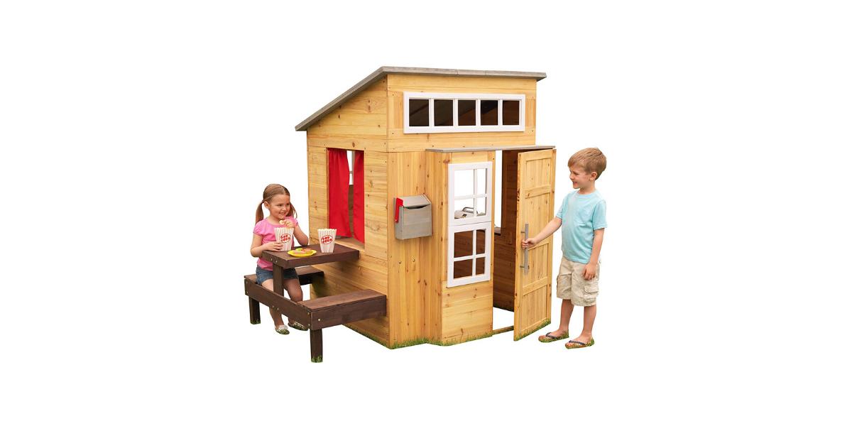 cabane en bois Kidcraft pour enfant avec cuisine et table