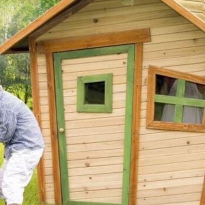 cabane en bois Alice Axi en cèdre pour enfant