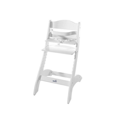 chaise haute en bois blanc pour bébé marque Geuther