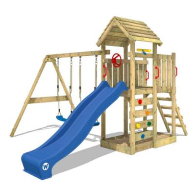 aire de jeux en bois marque Wickey
