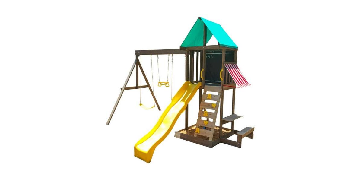 aire de jeux en bois newport marque Kidkraft