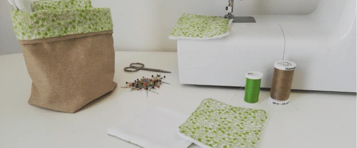 fabriquer des lingettes lavables en tissu