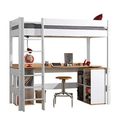 cama alta con escritorio para niño de la marca Akiten Retail