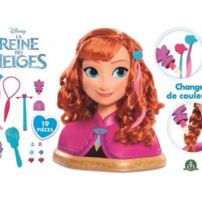 Tête-coiffer-Reine-Neiges-Anna-Giochi-Preziosi