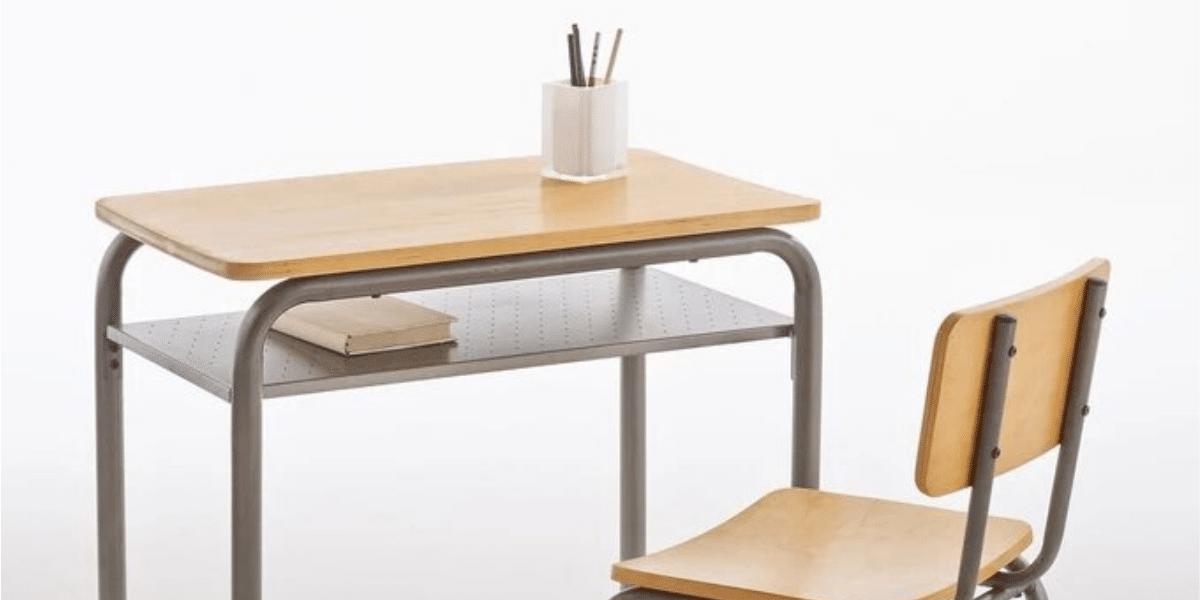 bureau et chaise rétro d'écolier marque Buton La Redoute Intérieur