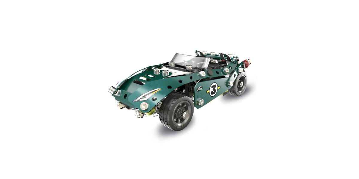 cabriolet marque meccano couleur verte
