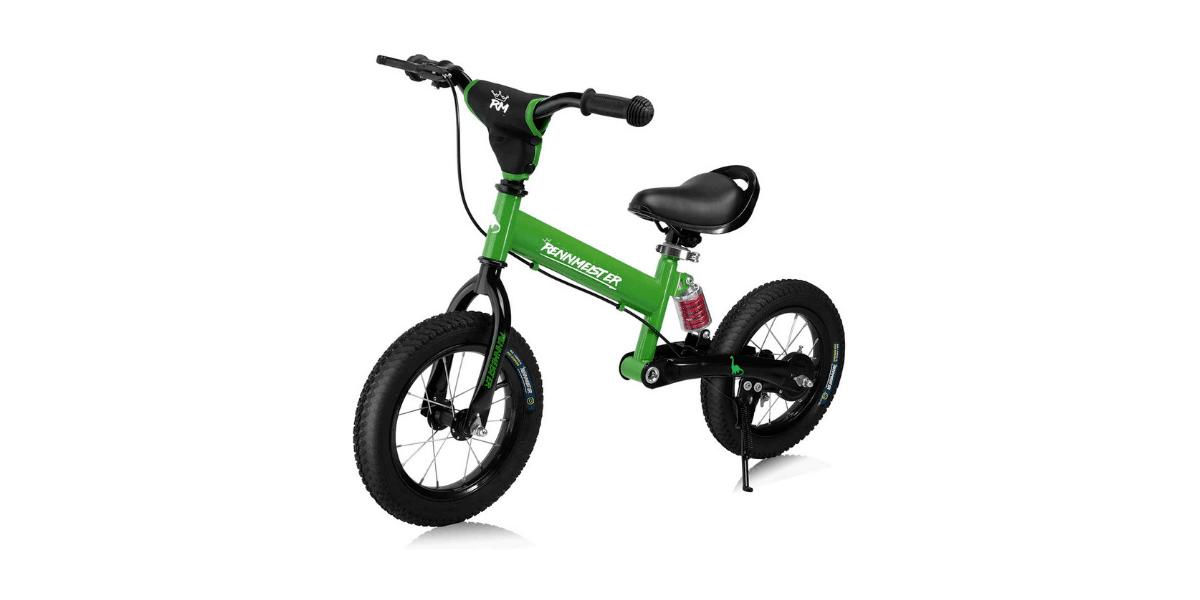 draisienne verte noire avec béquille et frein