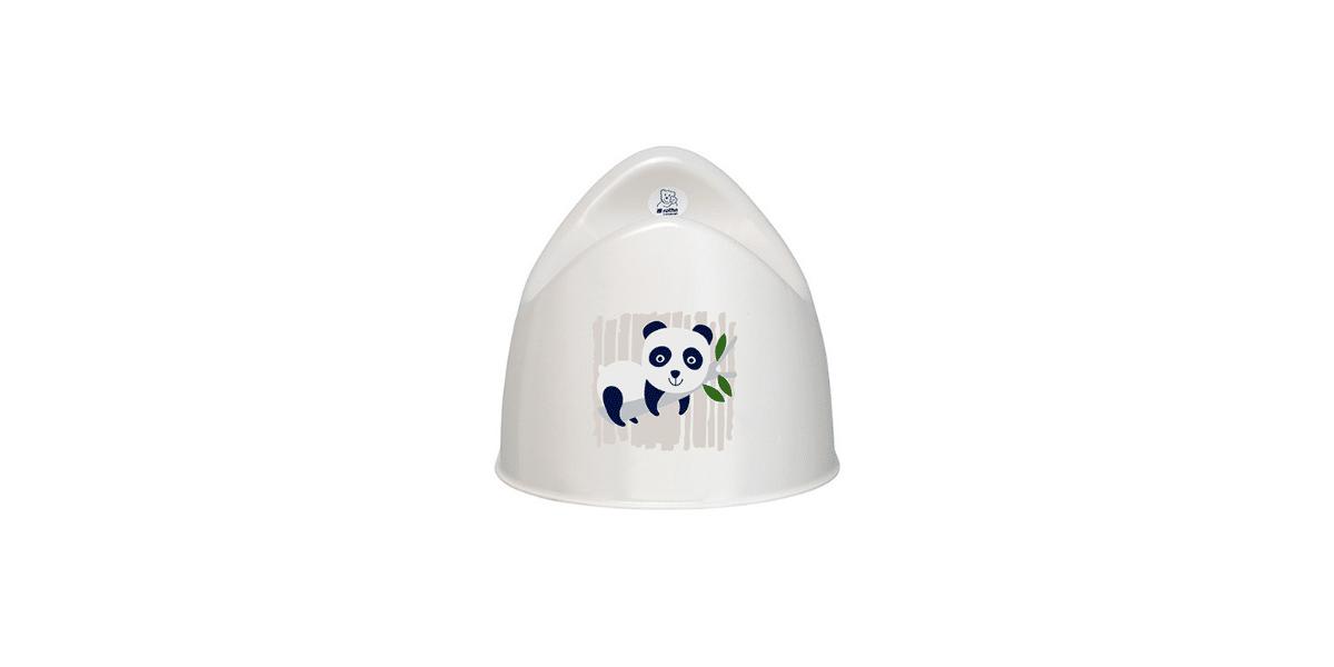 pot apprentissage blanc avec panda dessiné dessus