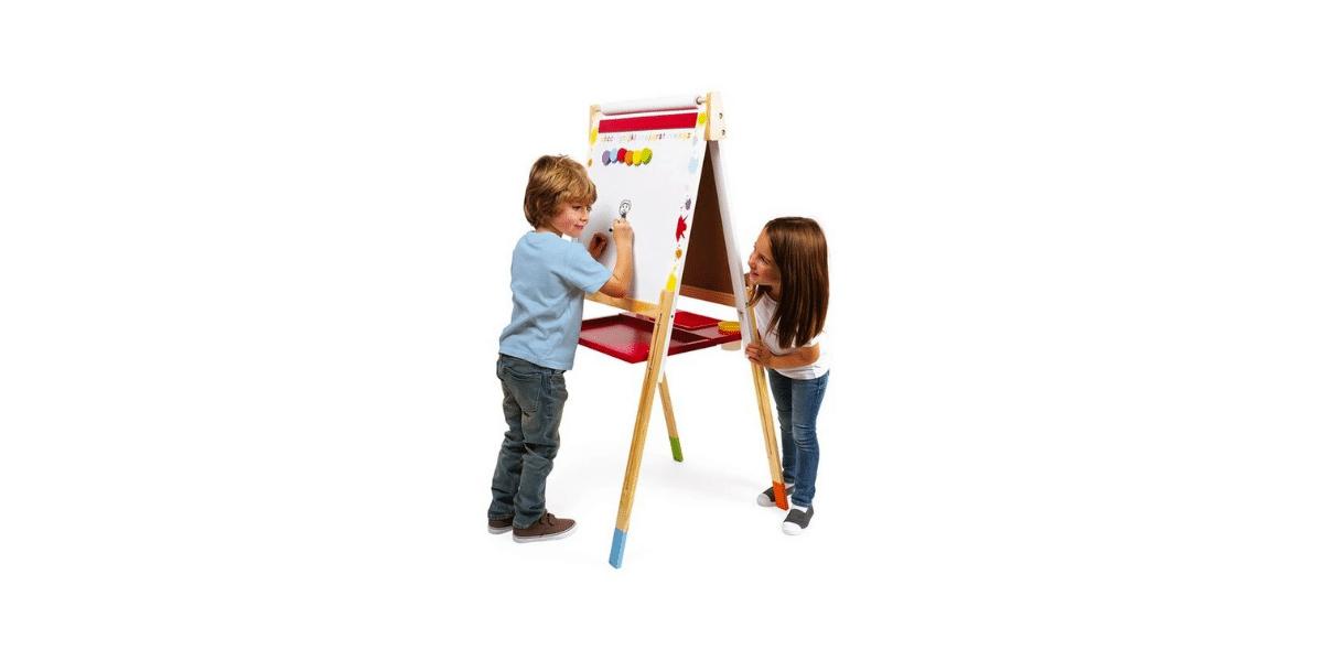 tableau double face janod avec deux enfants qui jouent