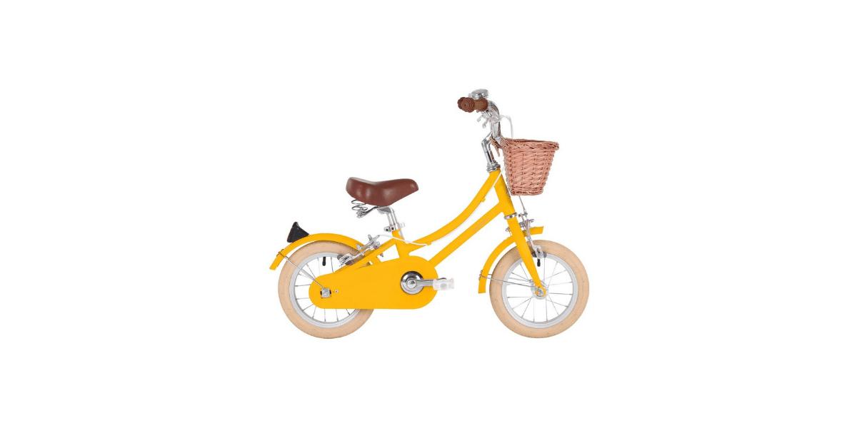 vélo jaune 12 pouce marque Bobbin enfant