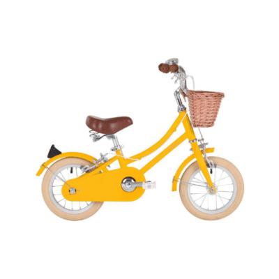 Bicicleta infantil de 12 pulgadas de la marca Bobbin amarilla