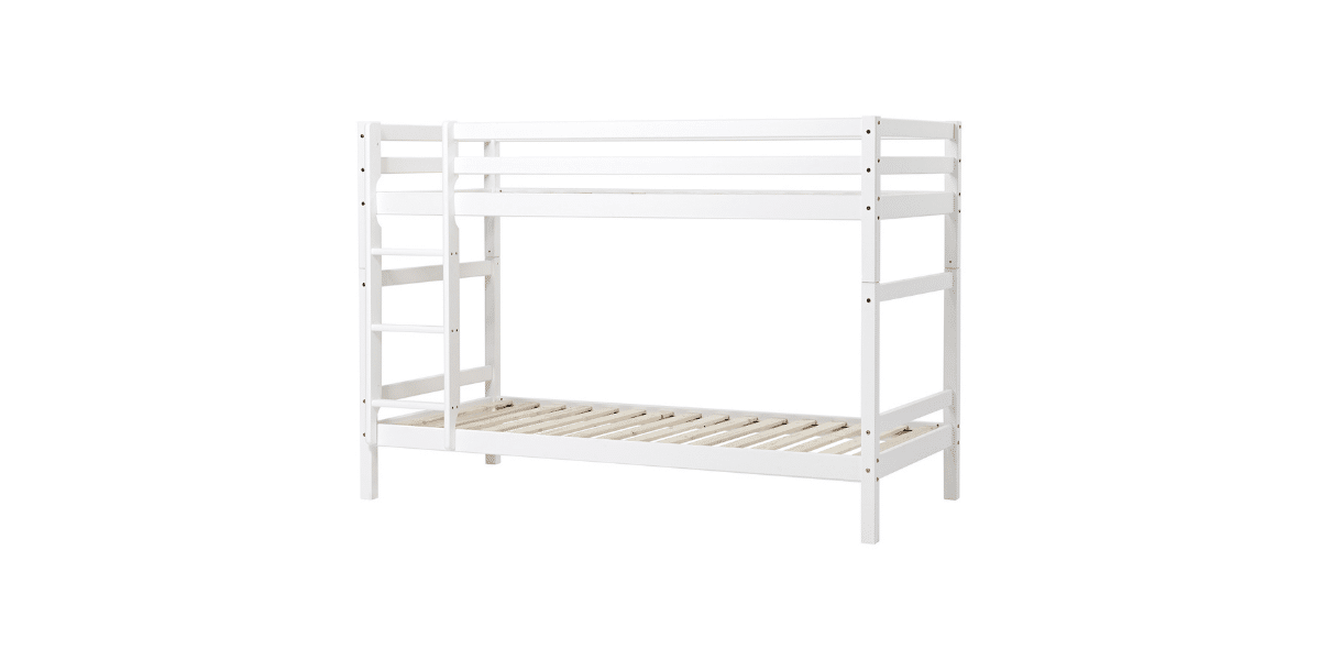 lit superposé blanc avec echelle