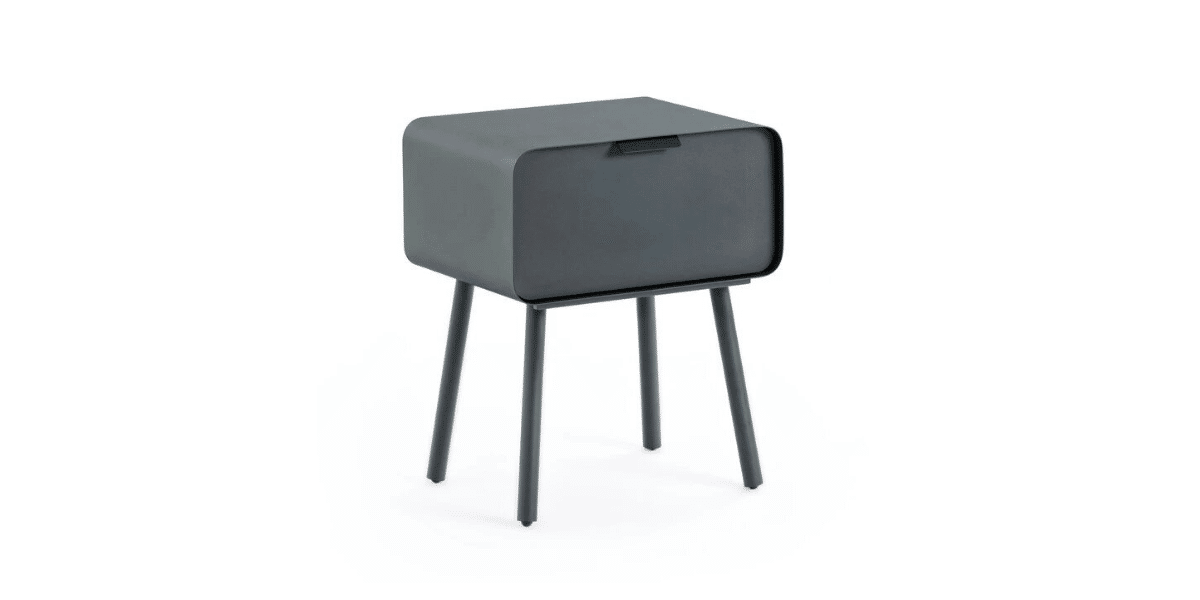 table nuit gris anthracite marque ampm