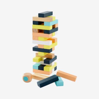 sivuel tour de pièces en bois avec 4 pièces tombées et un dé tour infernale marque vertbaudet