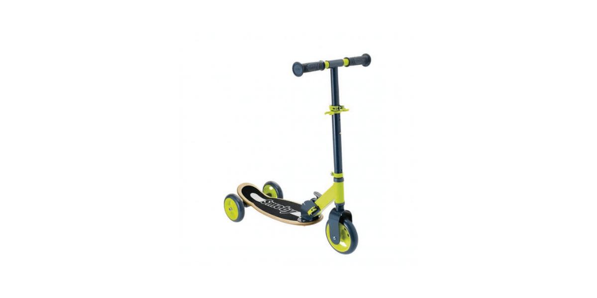trottinette 3 roues bois pliable marque Smoby enfant
