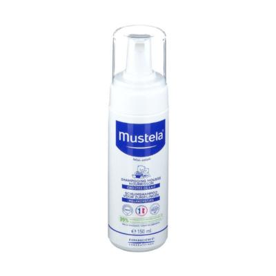 flacon du shampoing contre les croûtes de lait de bébé marque Mustela