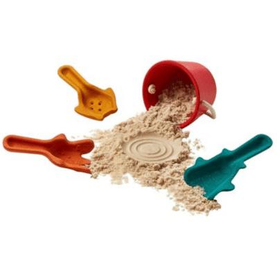 set de plage en bois marque Plan Toys