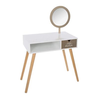 tocador para niños blanco con espejo en estilo escandinavo de la marca atmosphera
