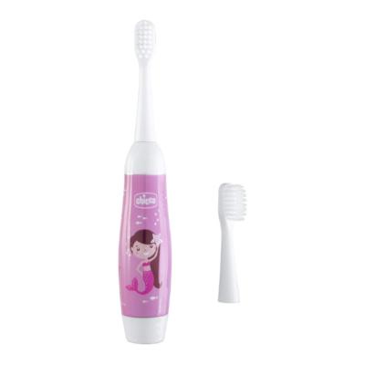 brosse à dent électrique blanche et rose