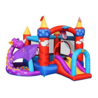 aire de jeux avec dragon marque happy hop