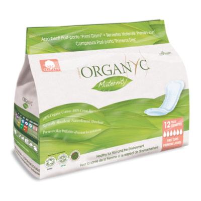 Paquet de serviettes maternité post-partum marque Organyc