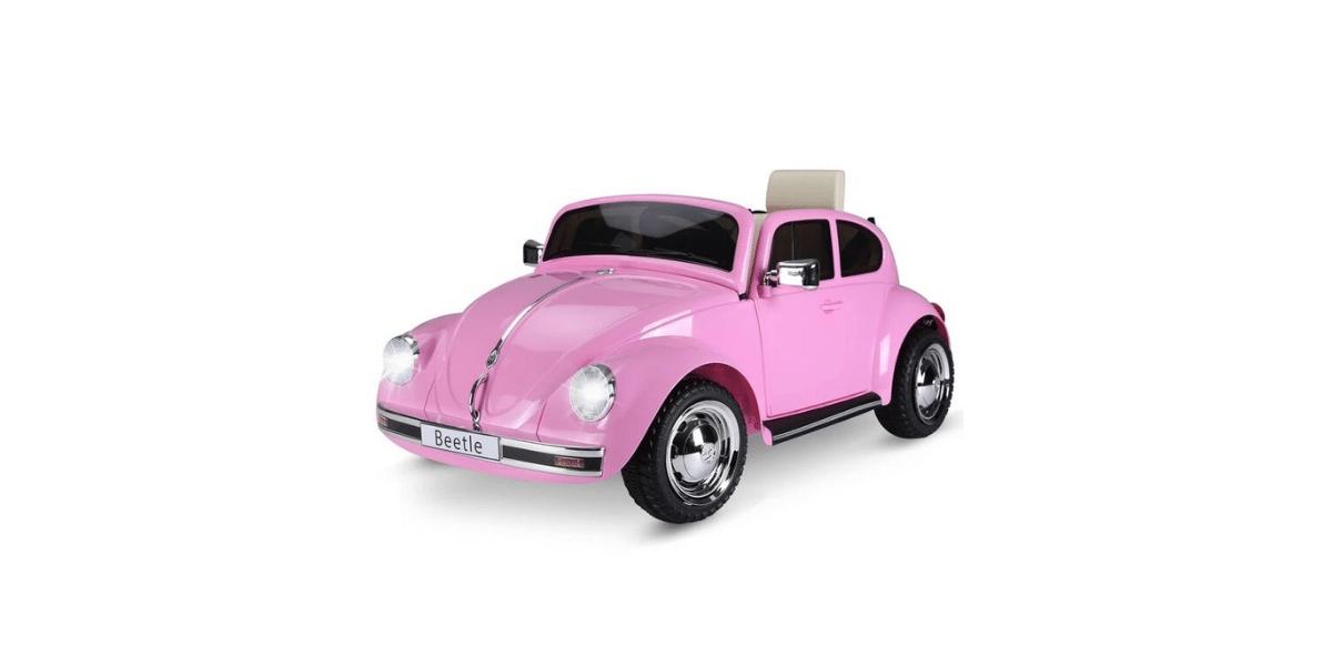 voiture électrique enfant coccinelle rose marque HOM COM