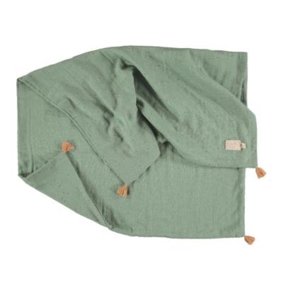 couverture bébé verte marque nobodynoz